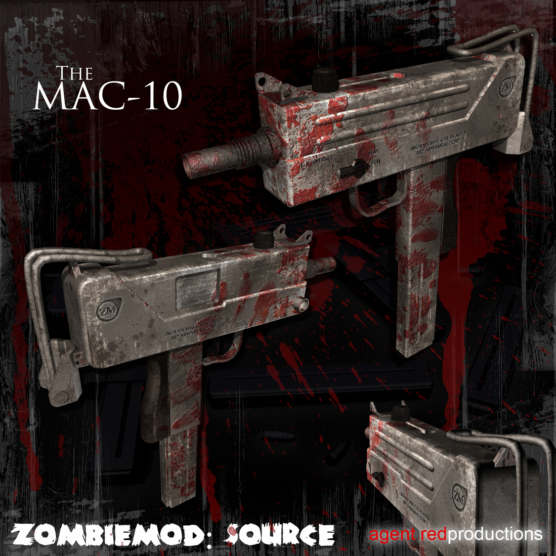 New Model: Mac-10 image - Situation Outbreak mod for Half-Life 2