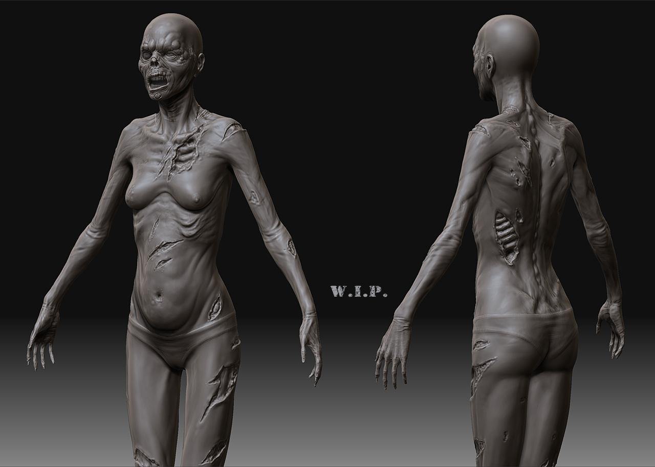 Female zombie nude sex image