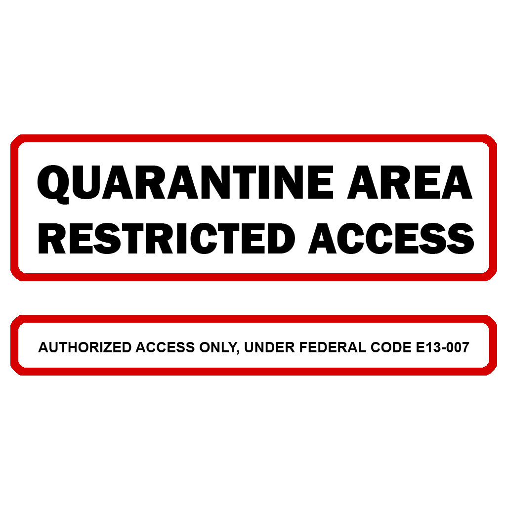 Slobbery image with quarantine sign printable