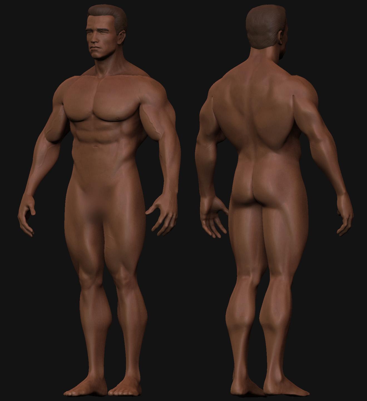 Arnold Schwarzenegger Naked Terminator