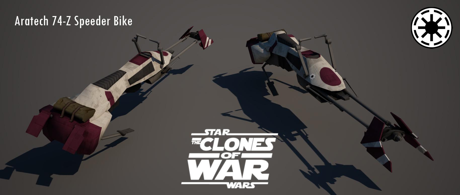 The aratech 74 z speeder bike image star wars the clones of war mod
