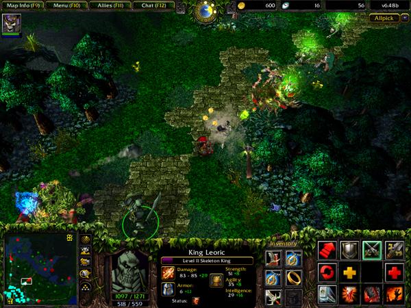 DotA: Allstars + HoN + LoL [PC](Warcraft3) Dota_allstars_game