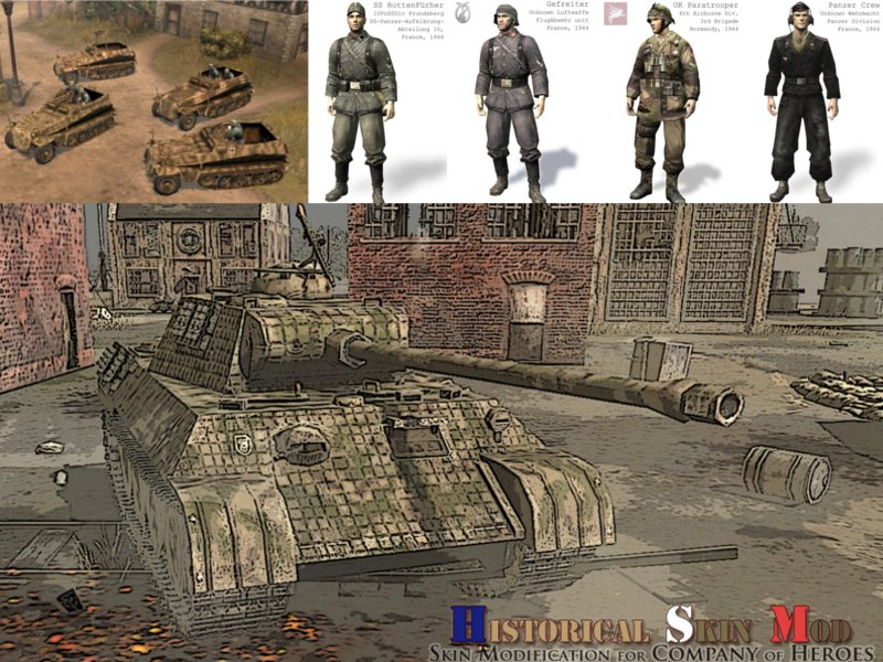 Historical Skin Mod For Company Of Heroes Tales Of Valor Mod Db