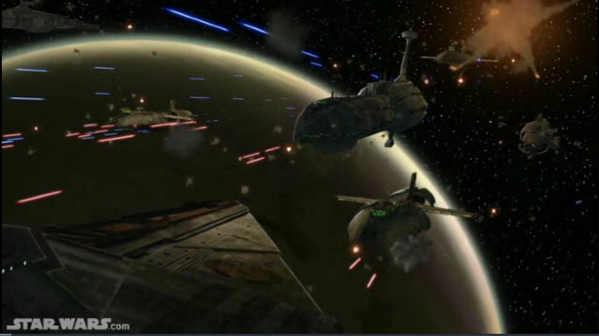 Star Wars Space Battle Clone Wars Progtraining