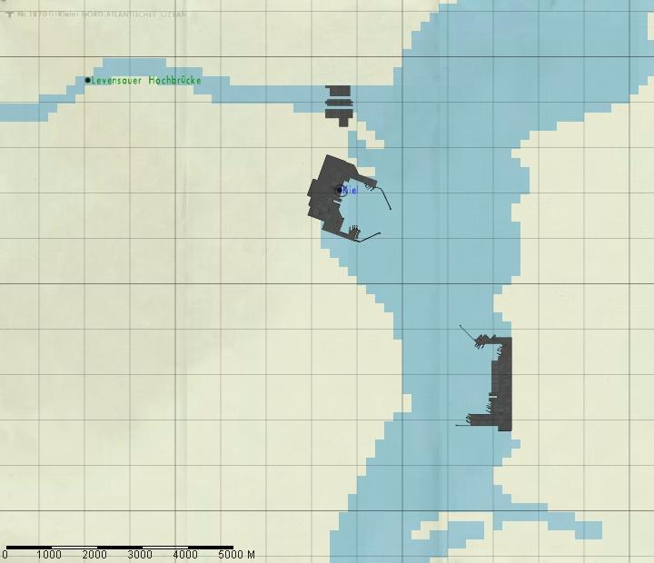 Kiel Harbour Map image Schnellboot Mod 2 for Silent Hunter III