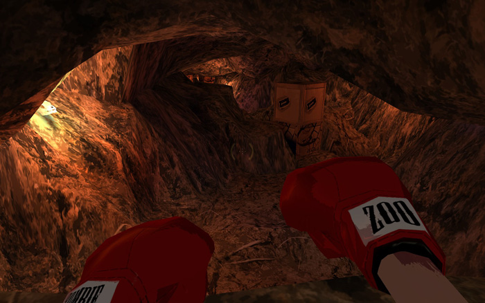 Man vs cave