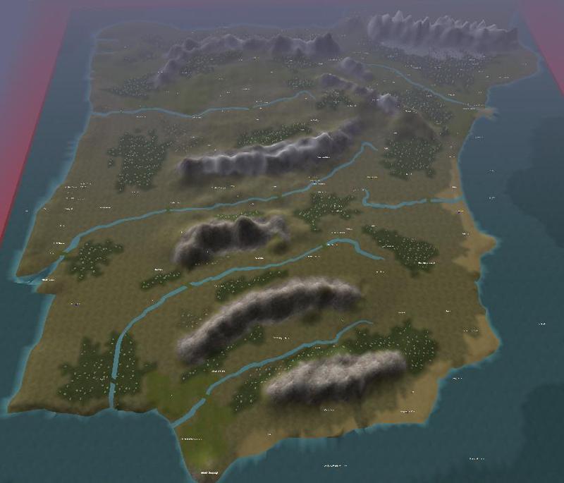 Map of the iberian Peninsula