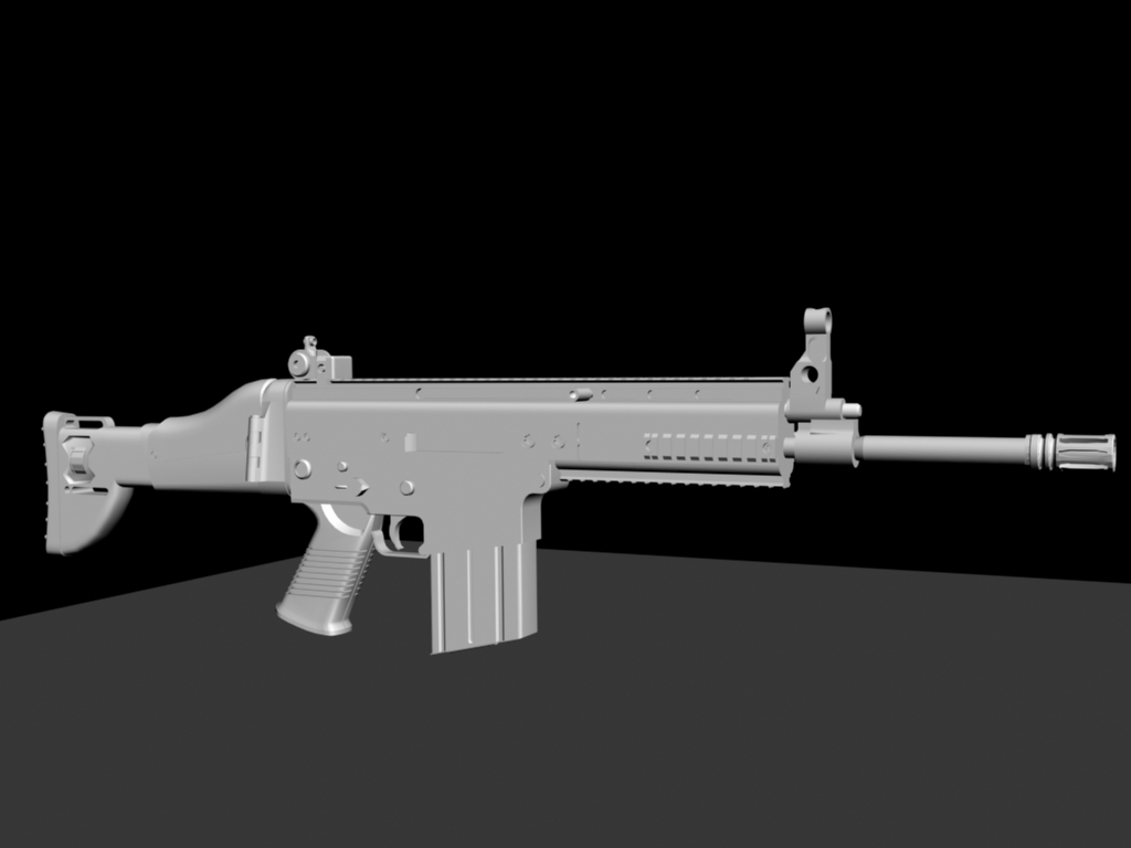 Untextured FN SCAR