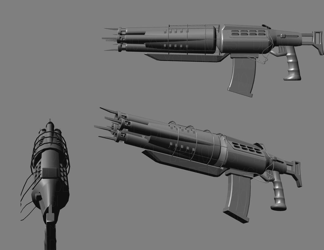 Super Nailgun Render - High Poly image - Deathmatch Classic: Source ...