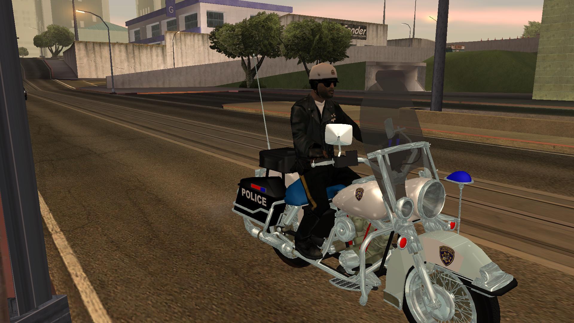 copbike image real cars for gta sa mod for grand theft auto san