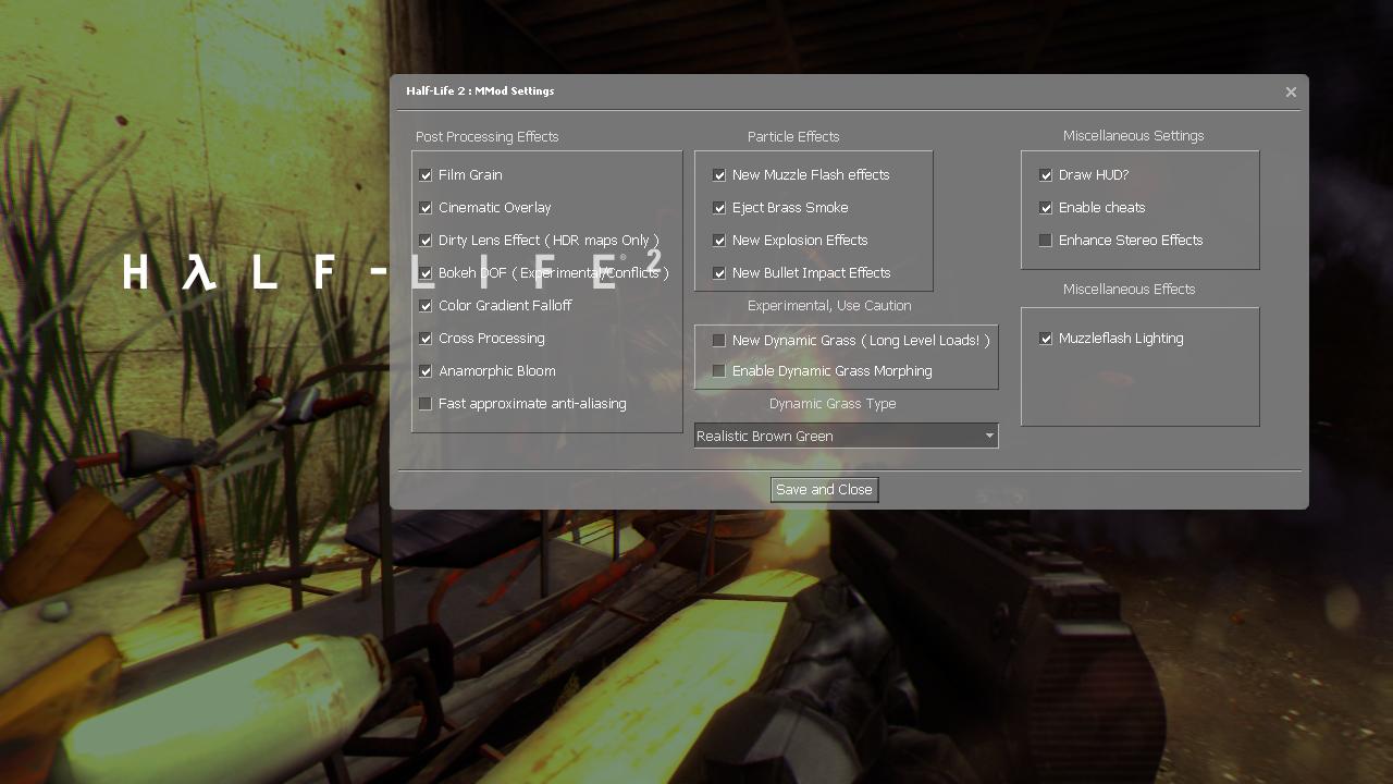 Half-Life 2 MMod : Gotta Configure 'Em All! image - Mod DB