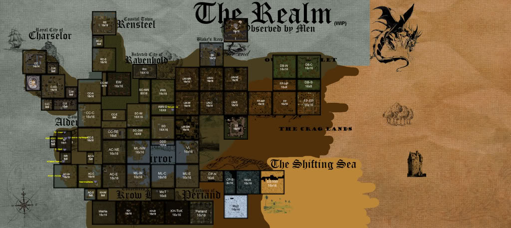 World Map   Build 5 image   The Rift mod for Neverwinter Nights