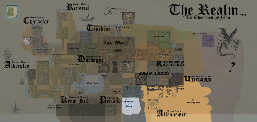 World Map   Build 8 image   The Rift mod for Neverwinter Nights