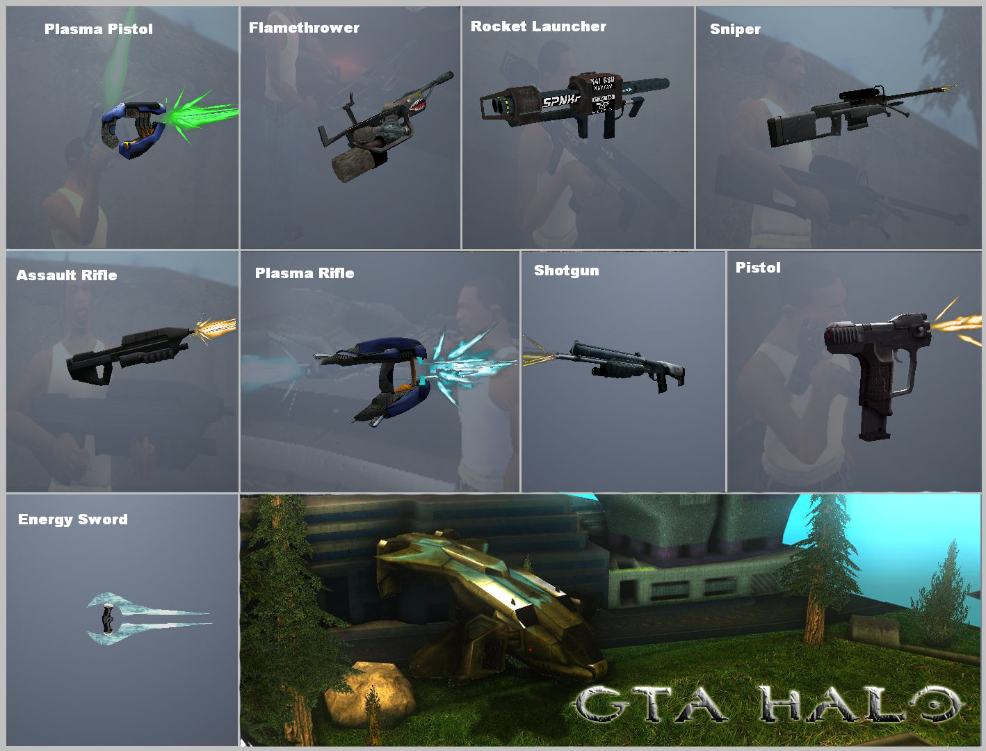Gta Halo Weapons Preview 1 Image Mod Db