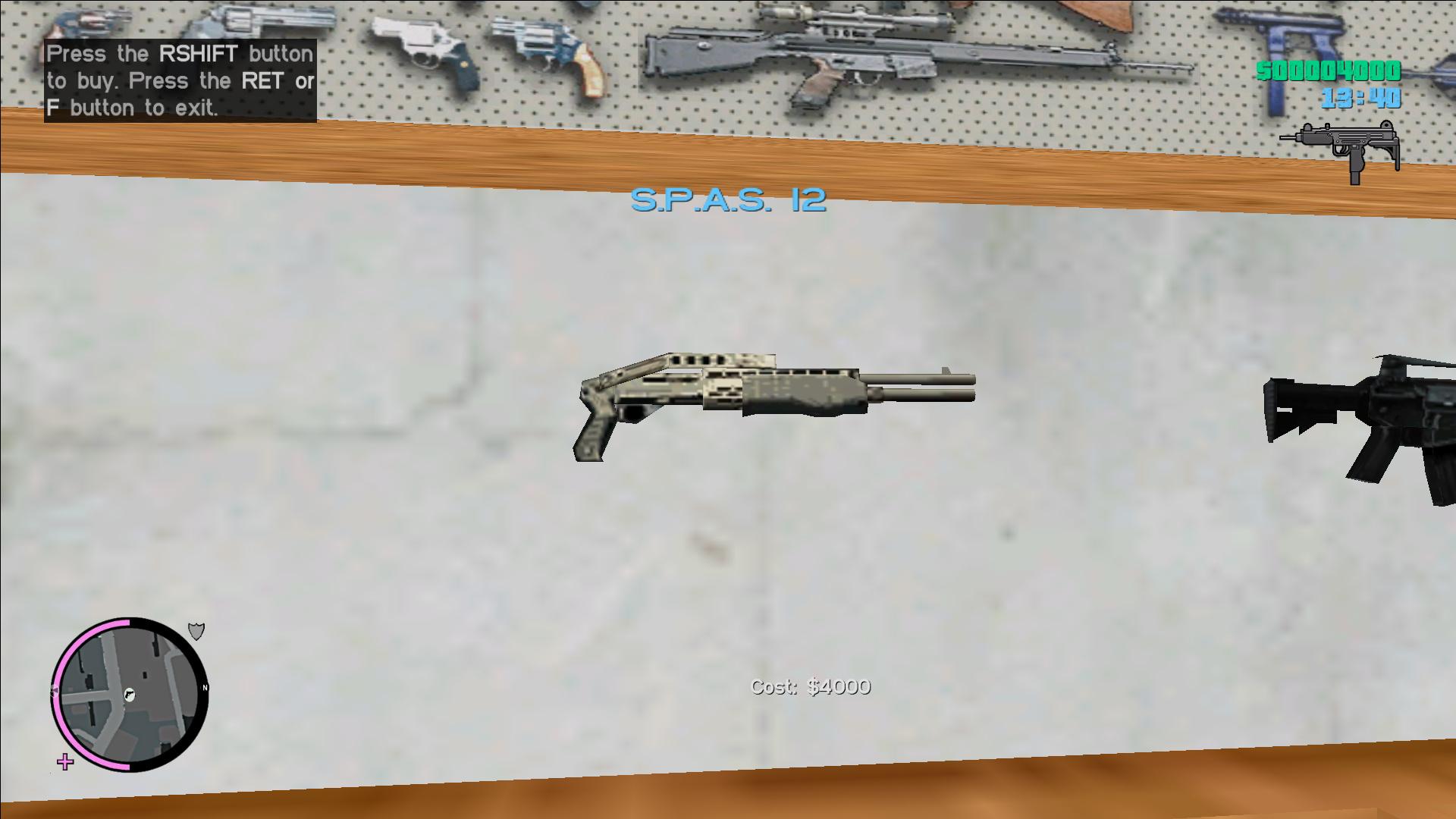 """S.P.A.S. 12"" - Combat Shotgun from Vice City BETA"