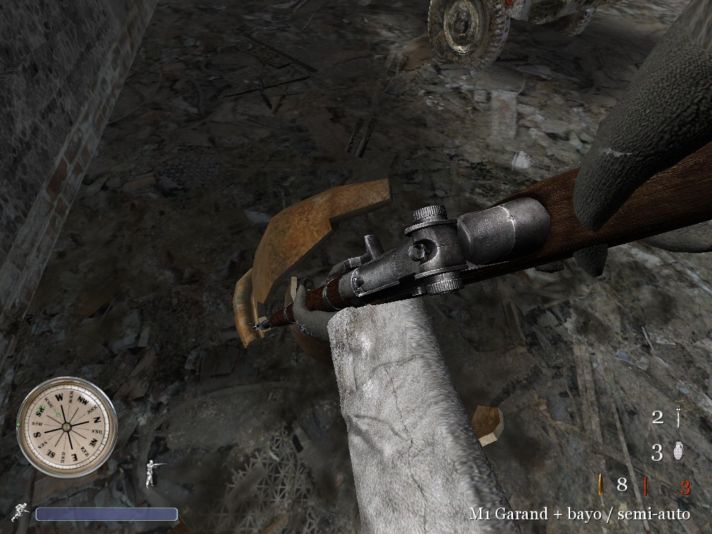 CoD2 M1 Garand with bayonet image - Back2Fronts Mod for Call