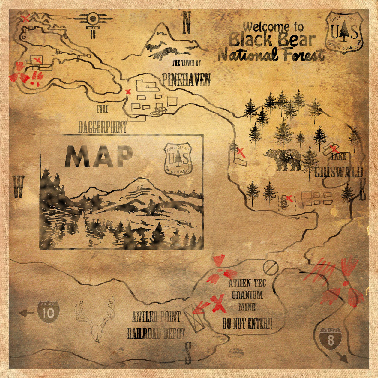 Fallout 2 Map virginia state map