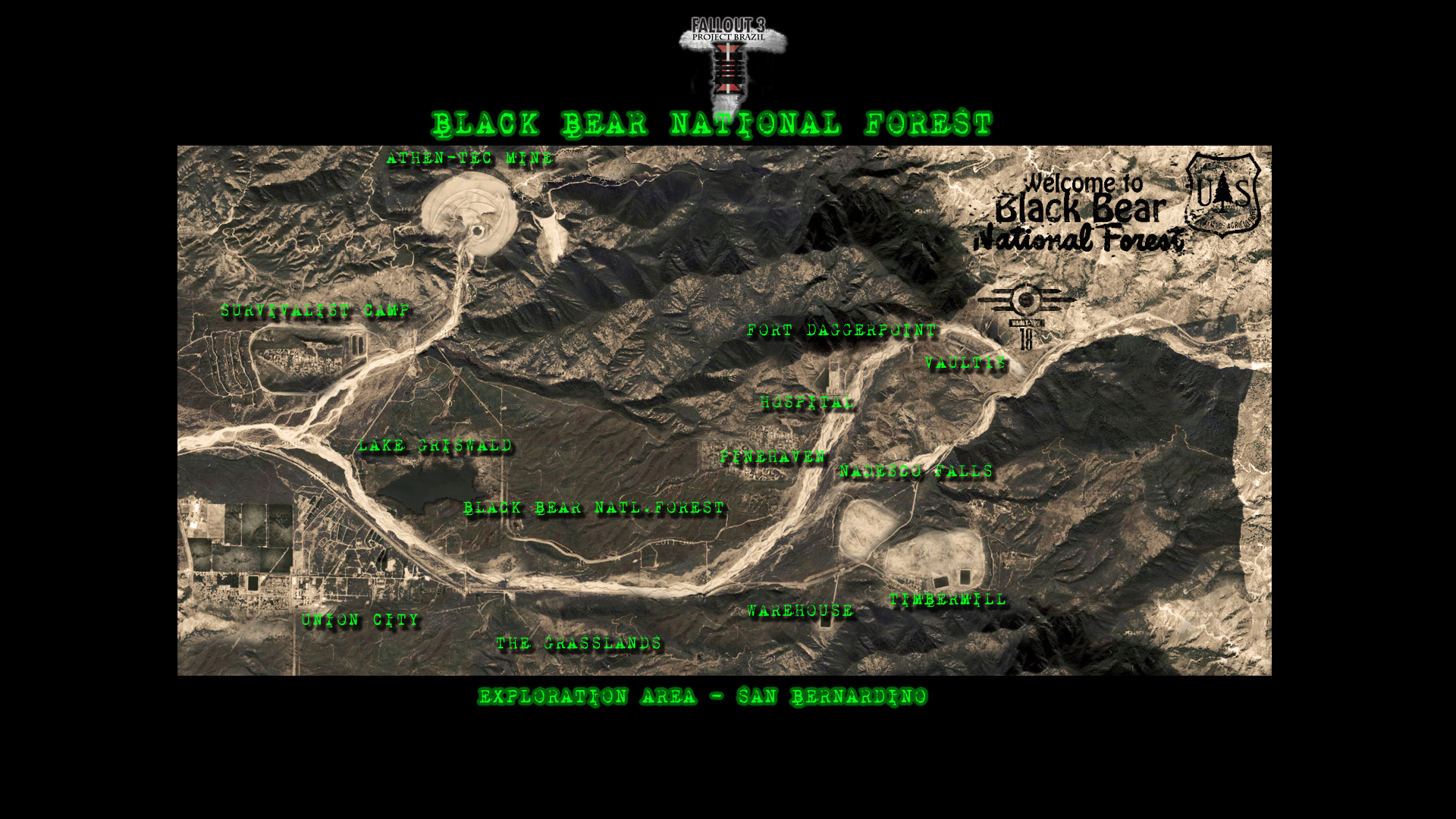 Black Bear National Forest Map image - Fallout: New California mod ...
