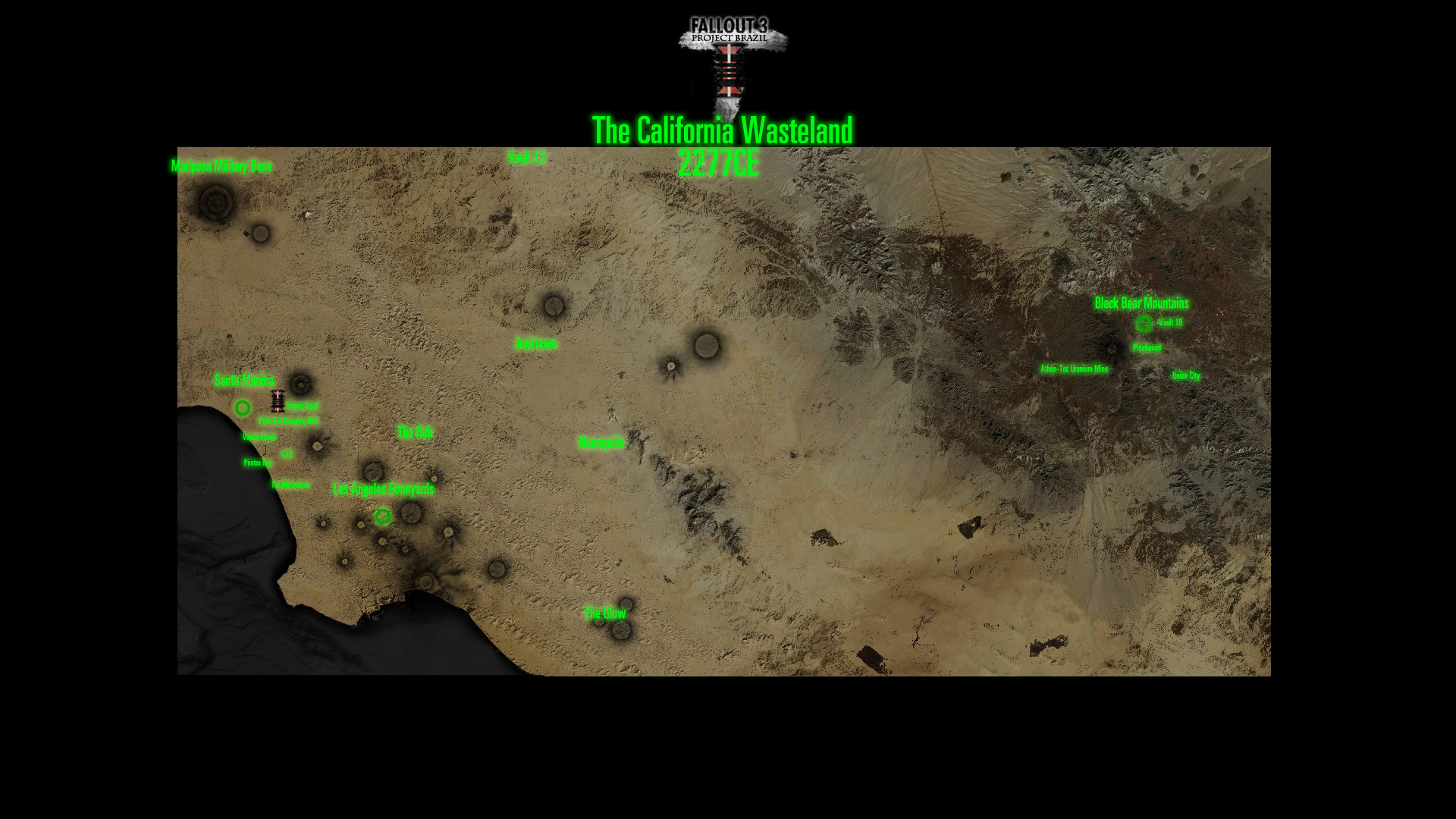 New Vegas World Map.Project Brazil Worldmap California Image Mod Db