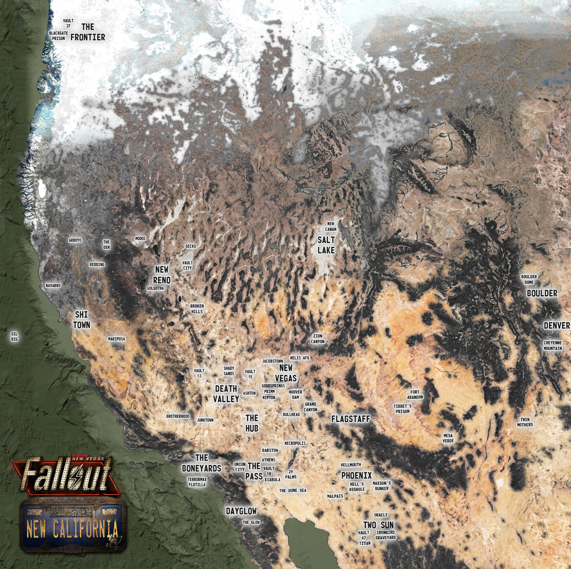 Fallout Las Vegas Map.Fallout World Map 2260 Image Fallout New California Mod For
