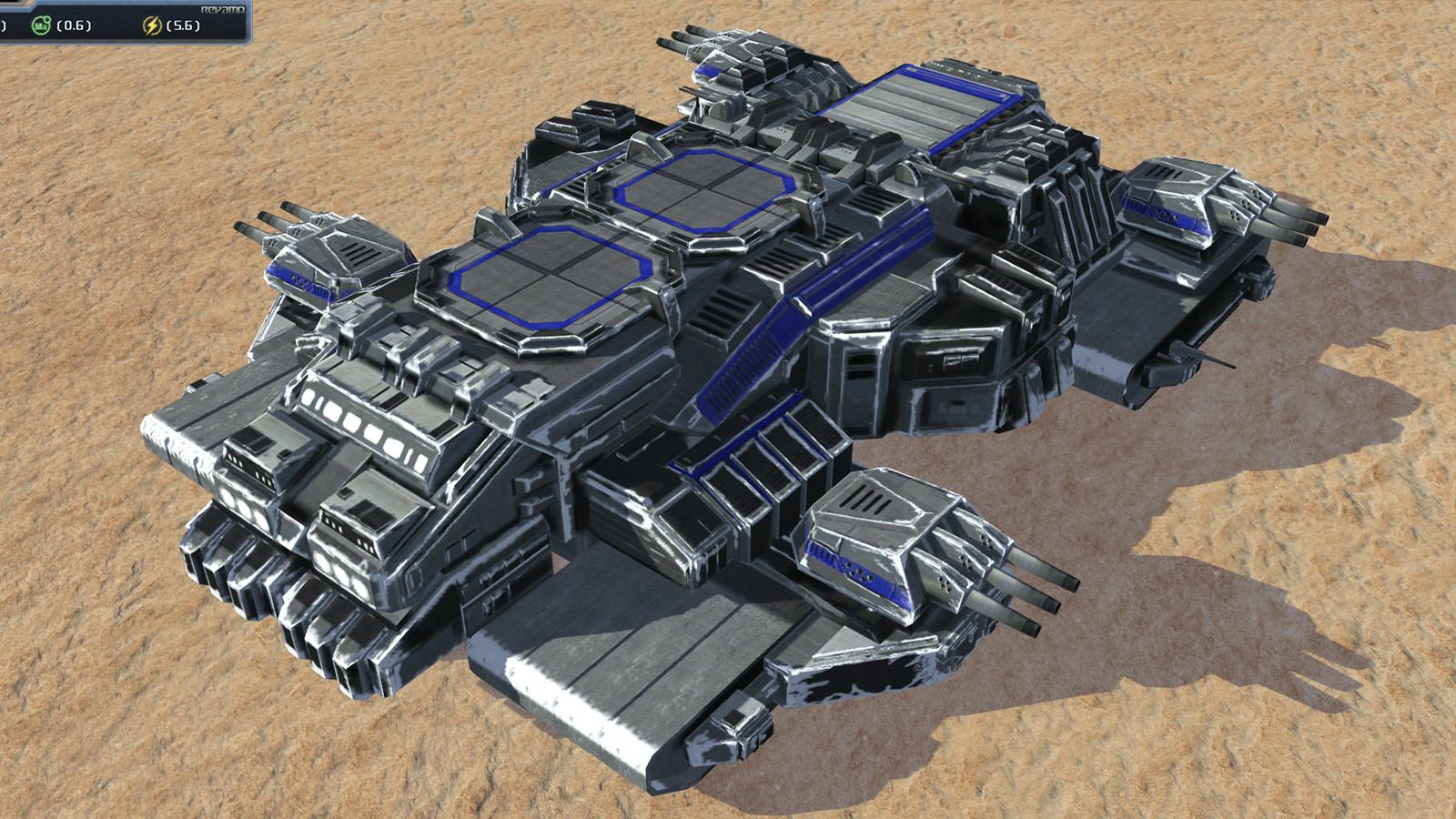 Mobilna czołgo-fabryka Grubas w stanie spoczynku.