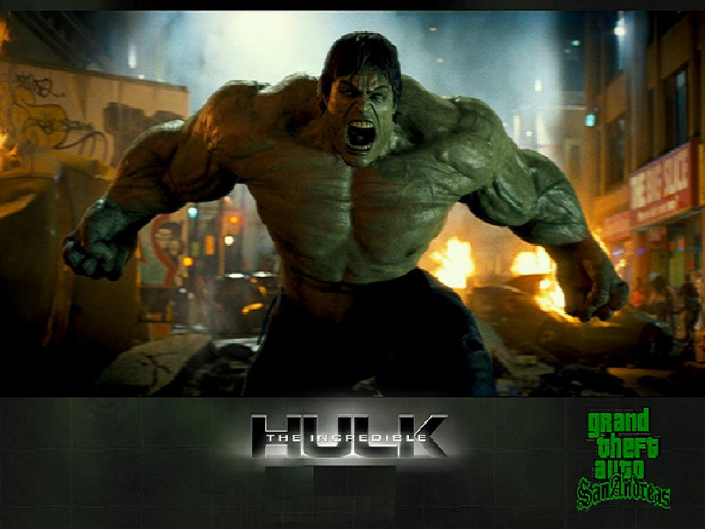 GTA Incredible Hulk mod for Grand Theft Auto: San Andreas