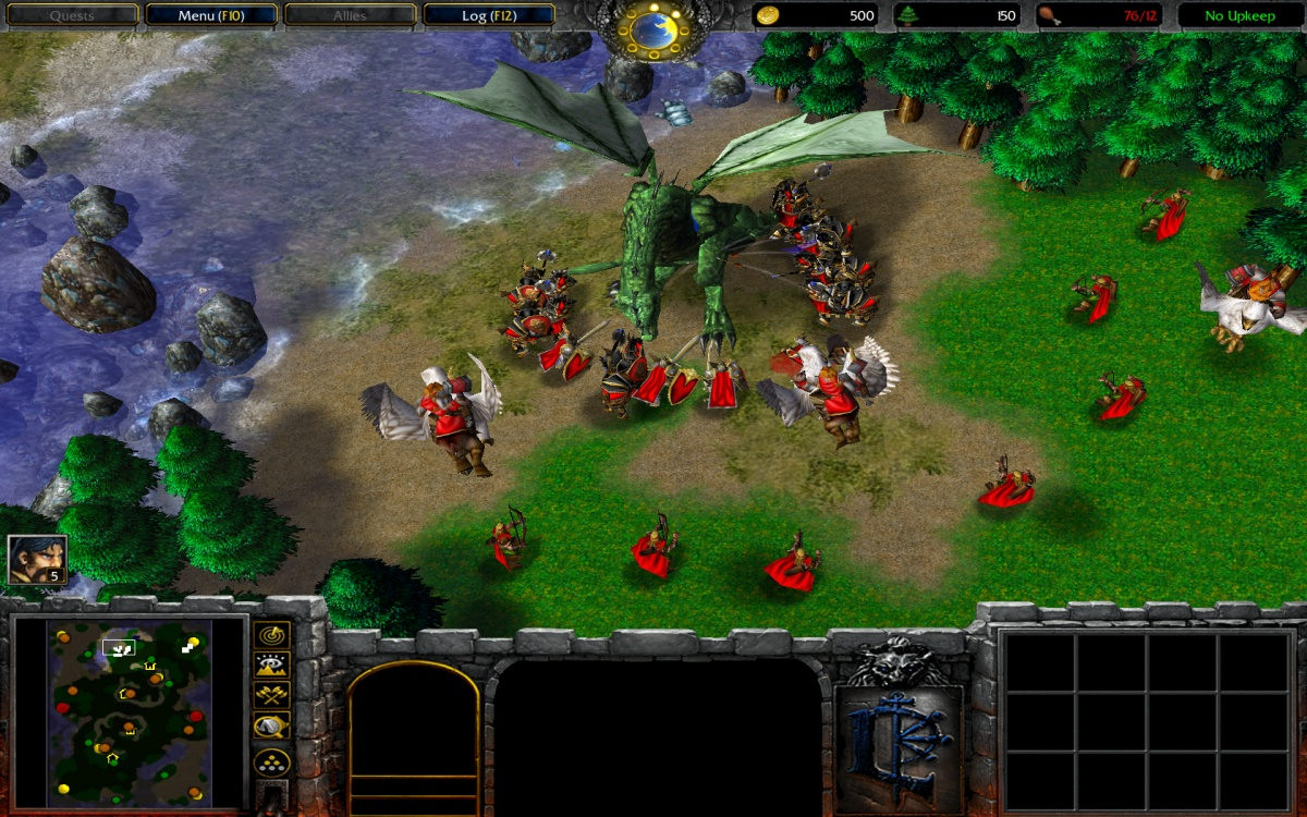 Slaying the Orcish Dragon King image - Warcraft IV: Red