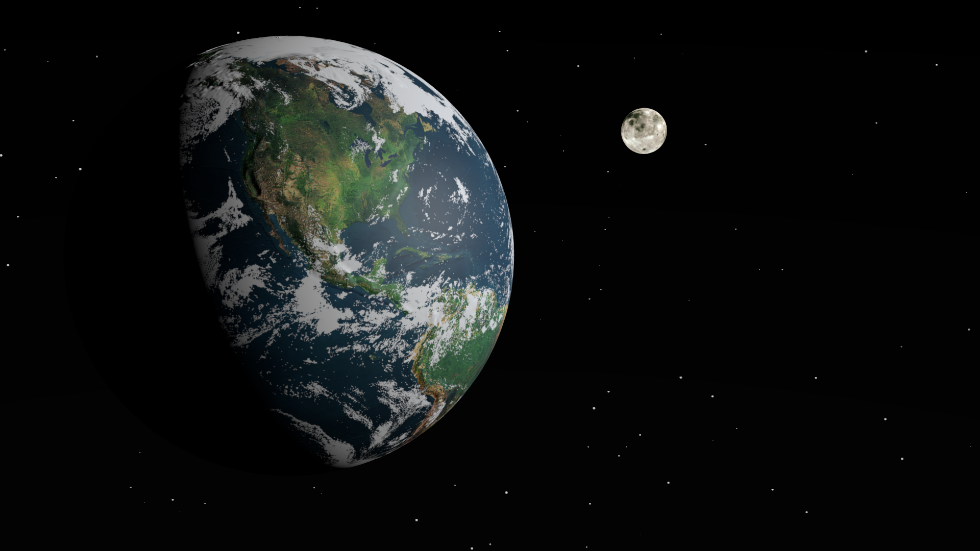 earth and moon together - photo #11