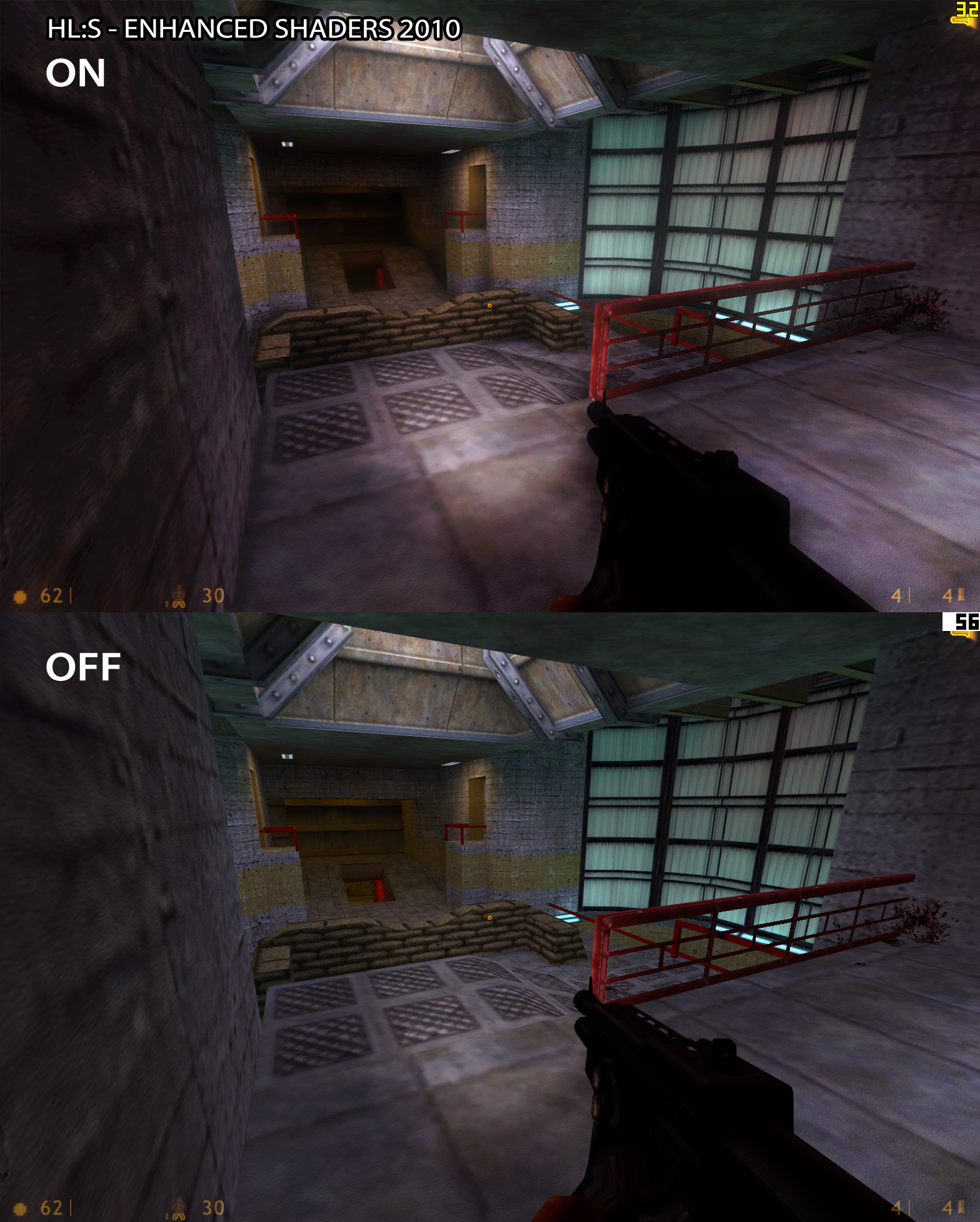 hl s - enhanced shaders 2010 - comparison image 3