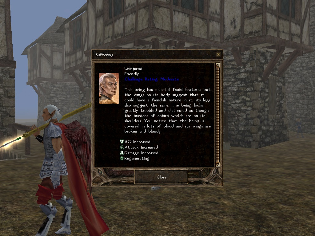 Crowley's Adventure features detailed character descriptions for most characters.