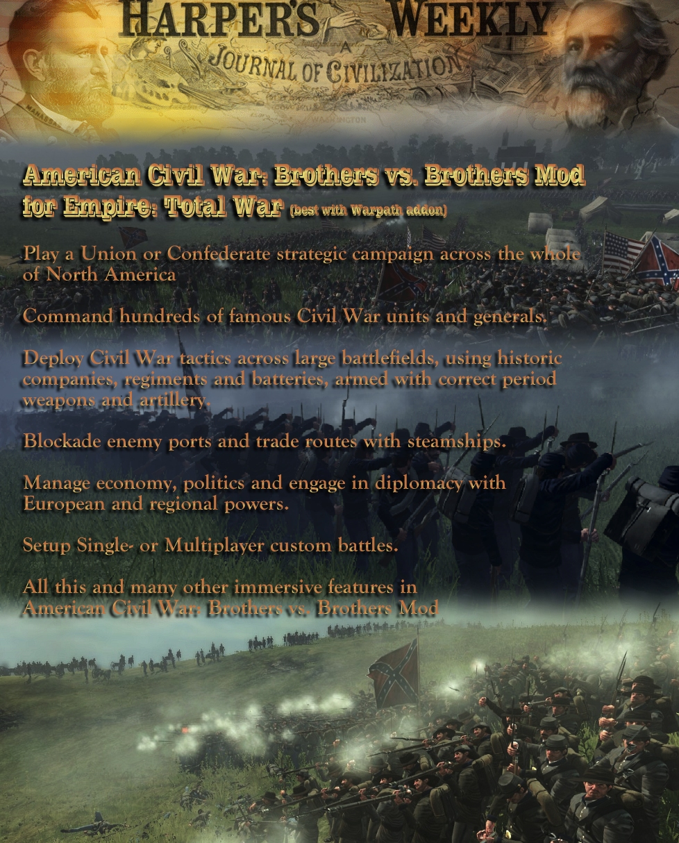 American Civil War: Brothers vs  Brothers mod for Empire