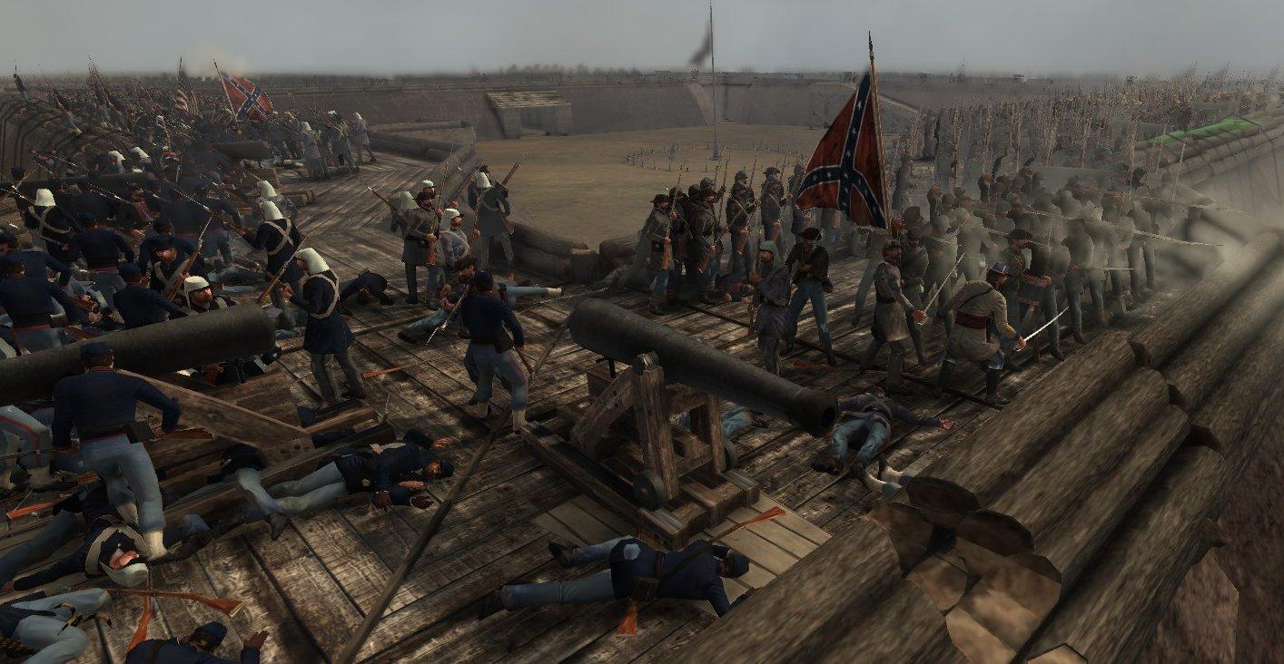 Fort Battle Image American Civil War Brothers Vs