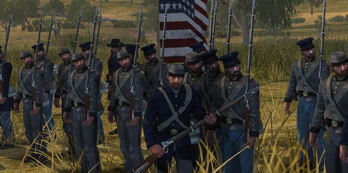 Early war US militia image - American Civil War: Brothers vs