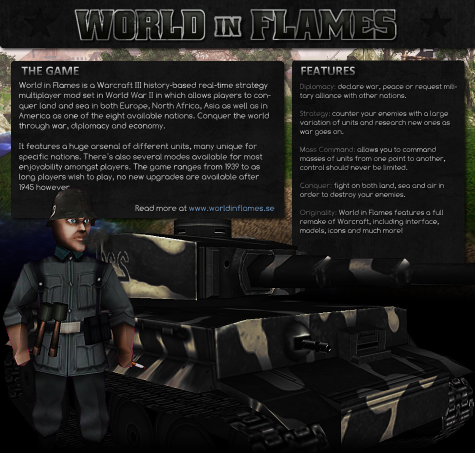 World in Flames information.