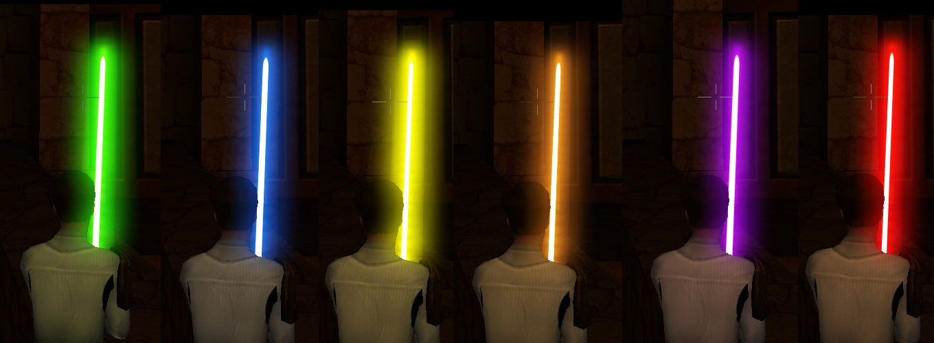 how to change color of lightsaber swtor
