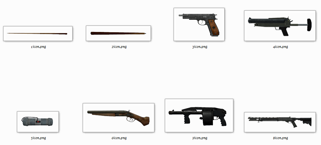 Episodes From Liberty City HD Real Weapon Icons Mod