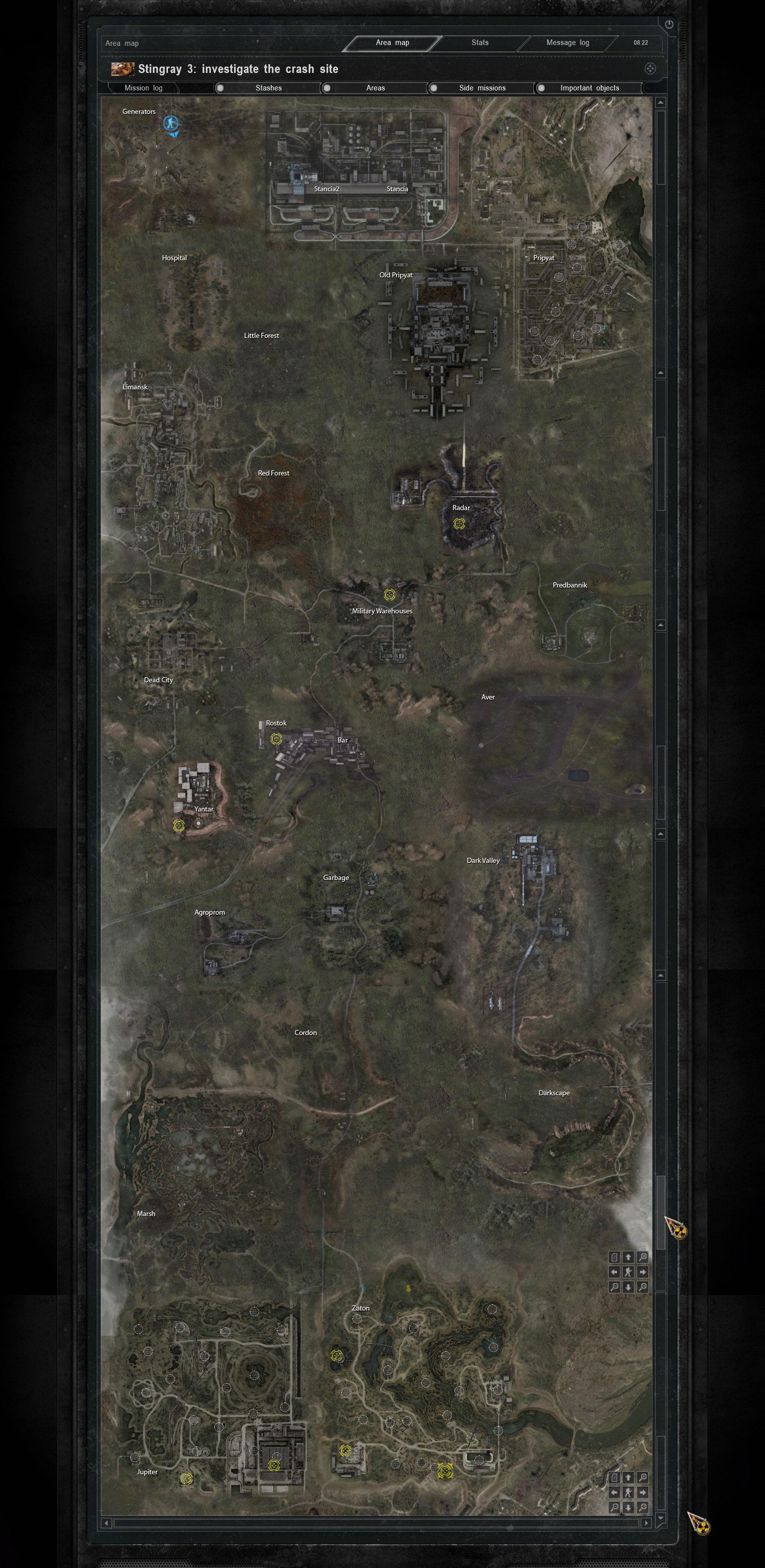 stalker clear sky artifact guide