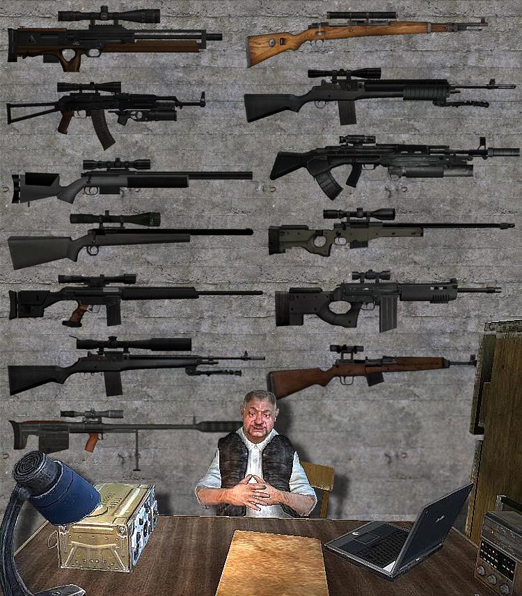 Фото всех оружий из сталкера