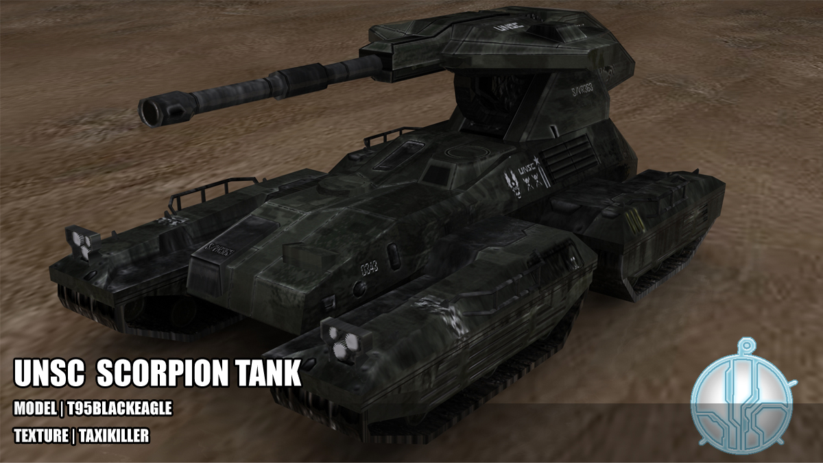 UNSC Scorpion tank Evolutions mod