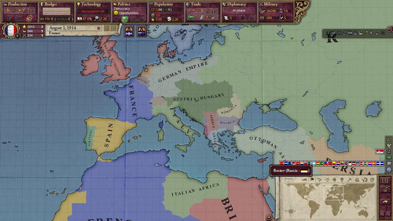 el mundo en agosto de 1914 mod for victoria ii