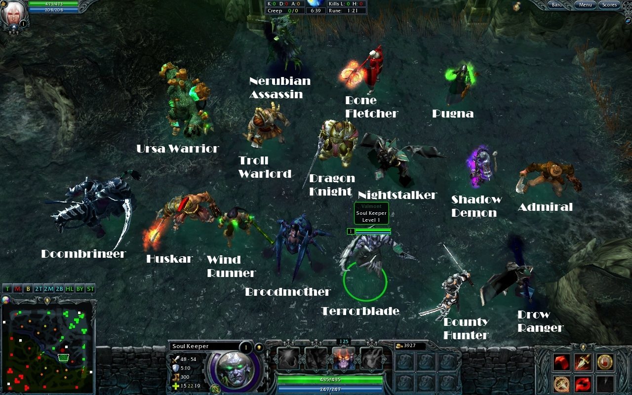 all the dota heroes for hon in game image mod db