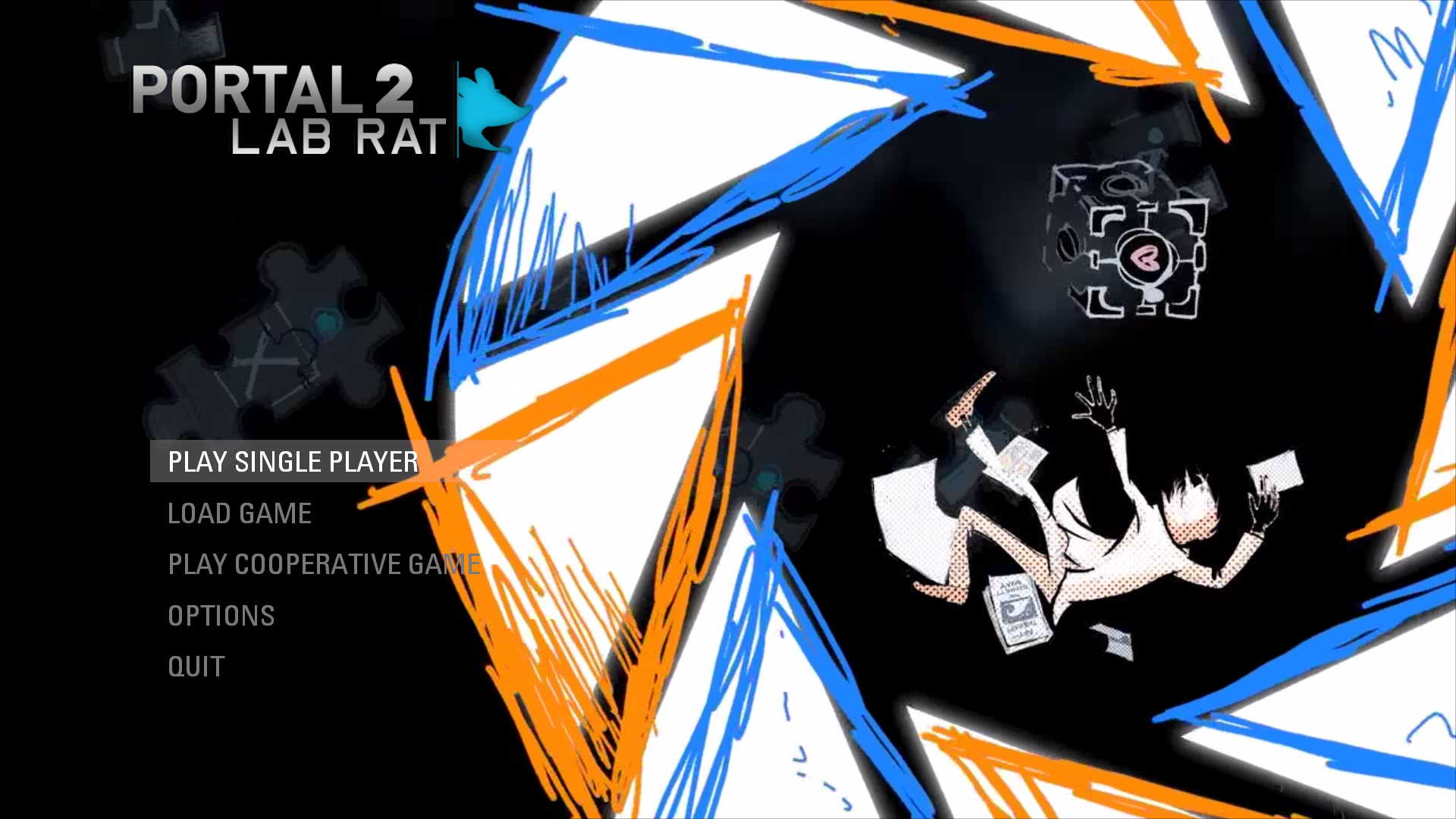 Main Menu Background Image Lab Rat Mod For Portal 2 Mod Db