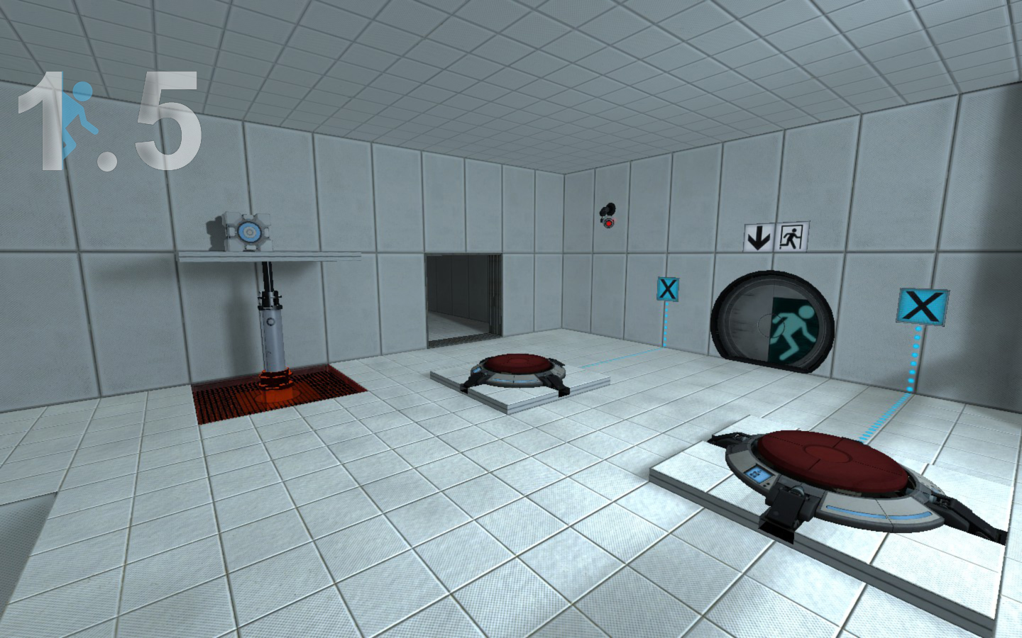 Cleaner Floor Texture Image Portal 1 5 Mod For Portal 2