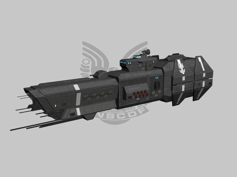 this one has a completley redesigned fore end and fits more with x3 covenant conflict mod for x terran conflict