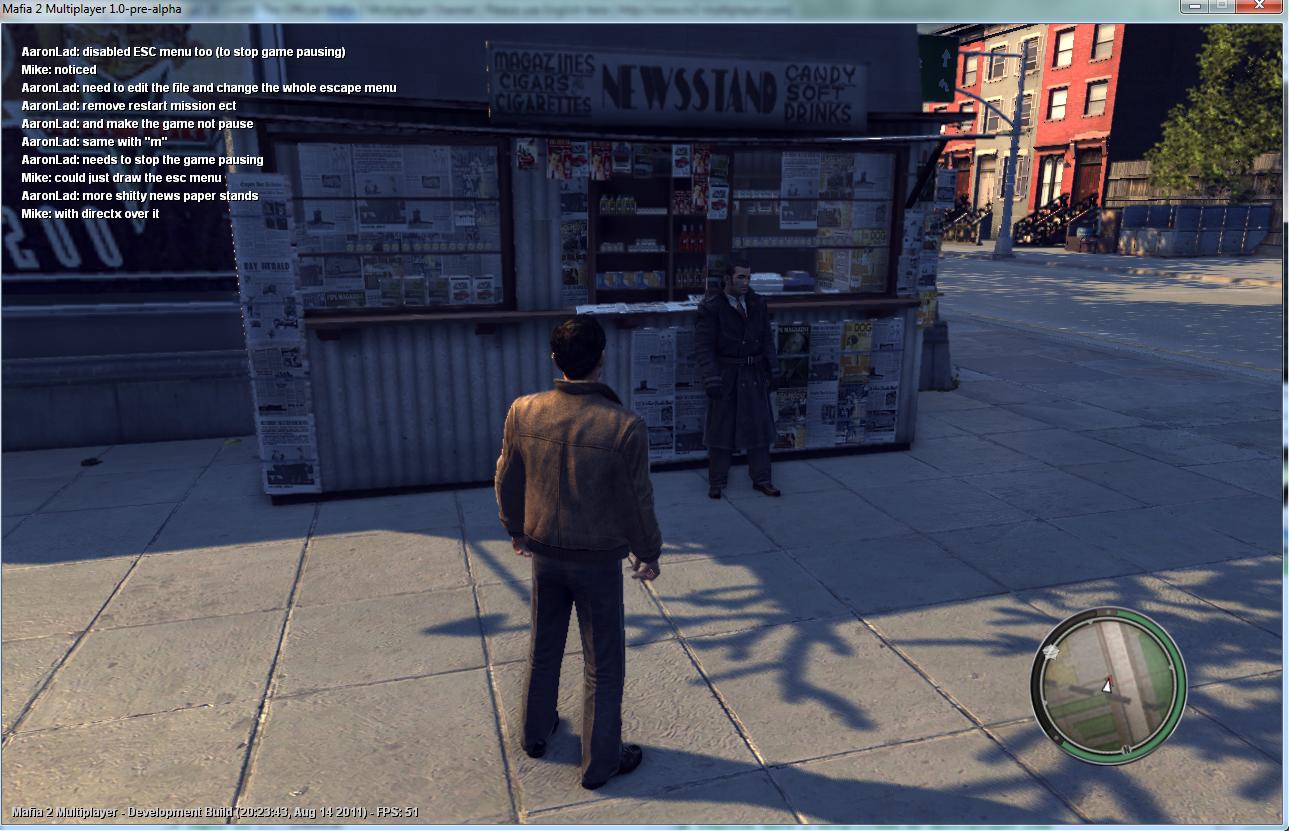 Testing Mafia 2 Multiplayer Sync image - Mod DB