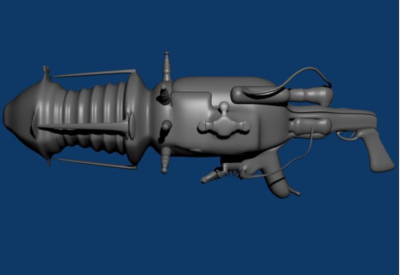 Tesla gun (untextured) image - Operation Resurrection mod for Half