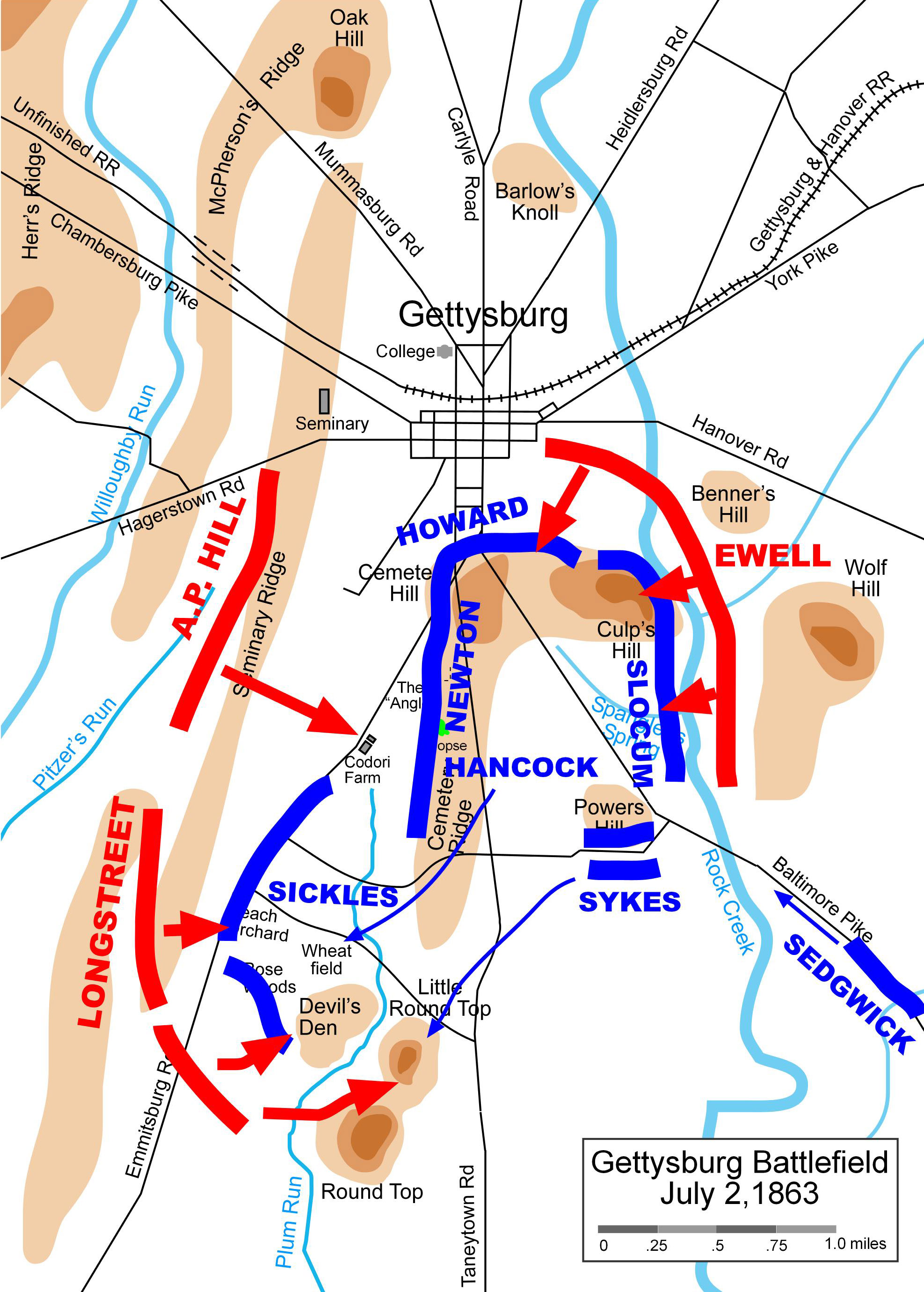 Battle of Gettysburg Map image - Blue vs. Grey mod for Men ... on scranton on map, appomattox on map, atlanta on us map, pierre on map, chancellorsville on map, underground railroad on map, fairfield on map, port hudson on map, vicksburg on map, fort sumter on map, penn hills on map, shay's rebellion on map, cumberland county on map, allegheny national forest on map, antietam on map, huron on map, paradise on map, mount carmel on map, kadoka on map, hershey on map,