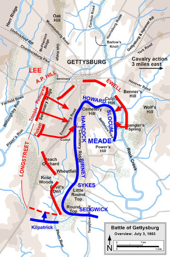 Battle of Gettysburg Map  Day 3 image  Blue vs Grey mod for Men