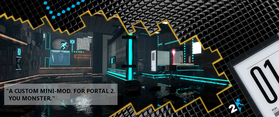 It's a custom campaign for Portal 2 and has custom puzzles centered around the manipulation of a constant inanimate companion testing element.