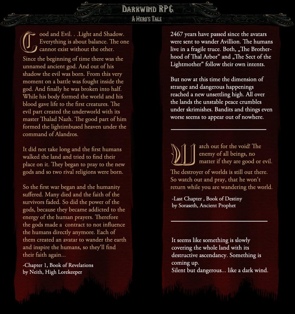Darkwind RPG - A Hero's Tale